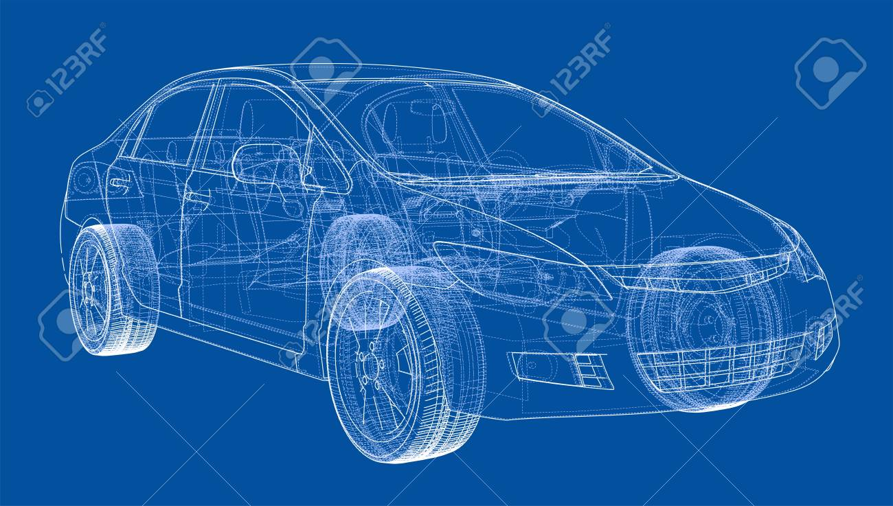 Concept car blueprint stock photo picture and royalty free image concept car blueprint stock photo 98710666 malvernweather Choice Image