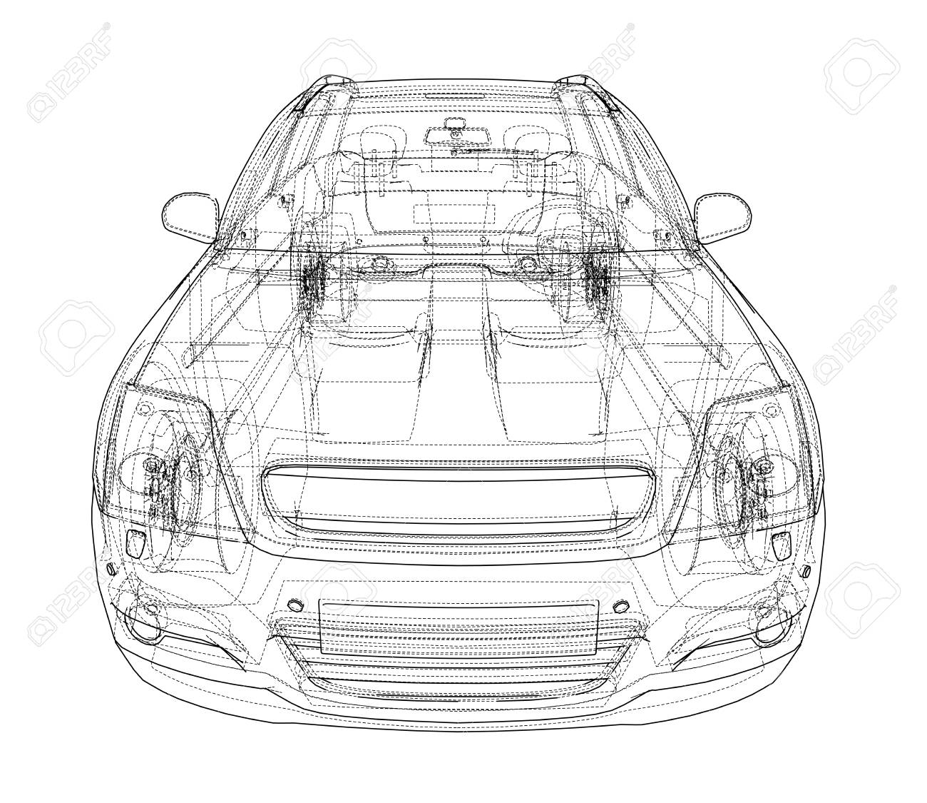 Concept car blueprint stock photo picture and royalty free image concept car blueprint stock photo 98783528 malvernweather Choice Image