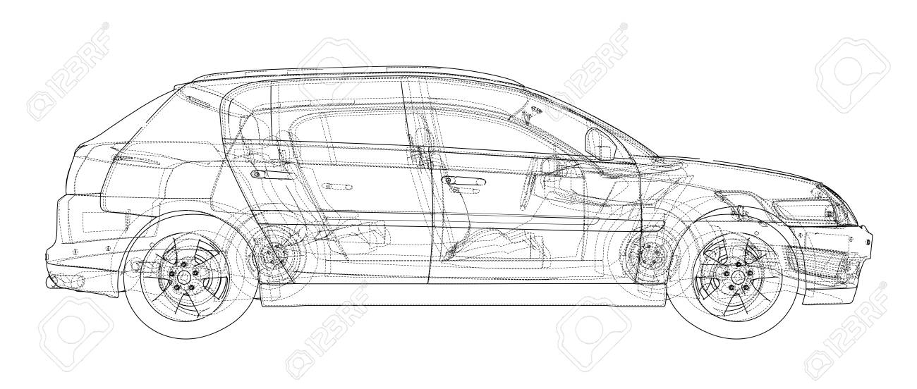 Concept car blueprint stock photo picture and royalty free image concept car blueprint stock photo 98783534 malvernweather Choice Image