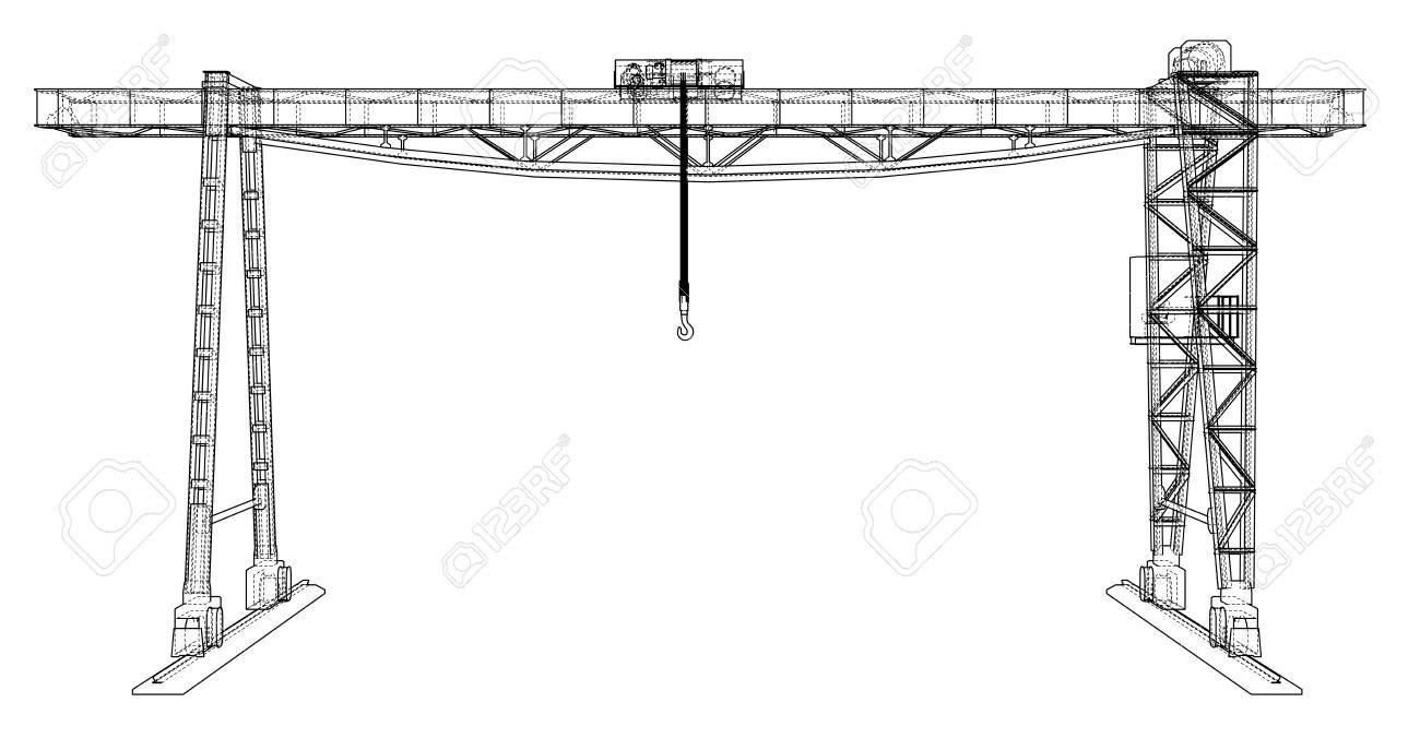 Gantry crane blueprint - 98783535