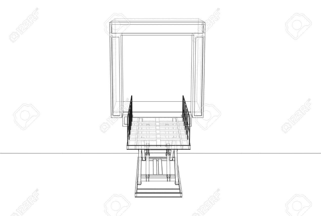 dock leveler concept stock photo - 112920285
