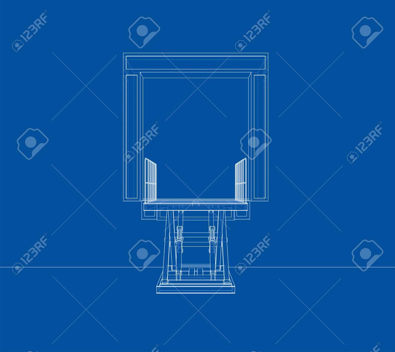 dock leveler concept stock photo - 112920297