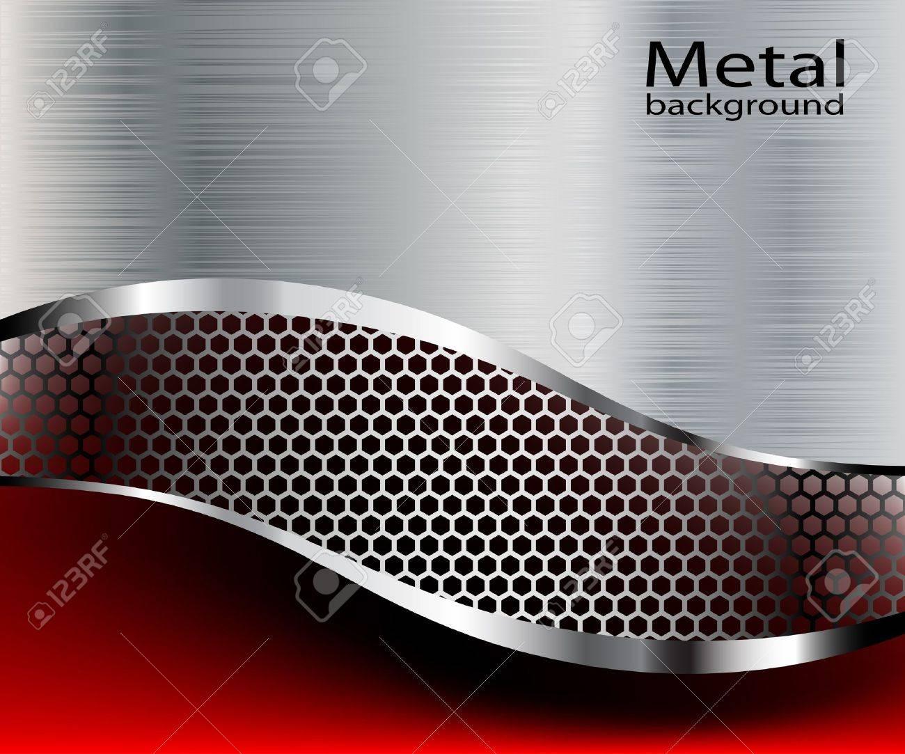 Illustration metallic backgrounds. Stock Vector - 10420405