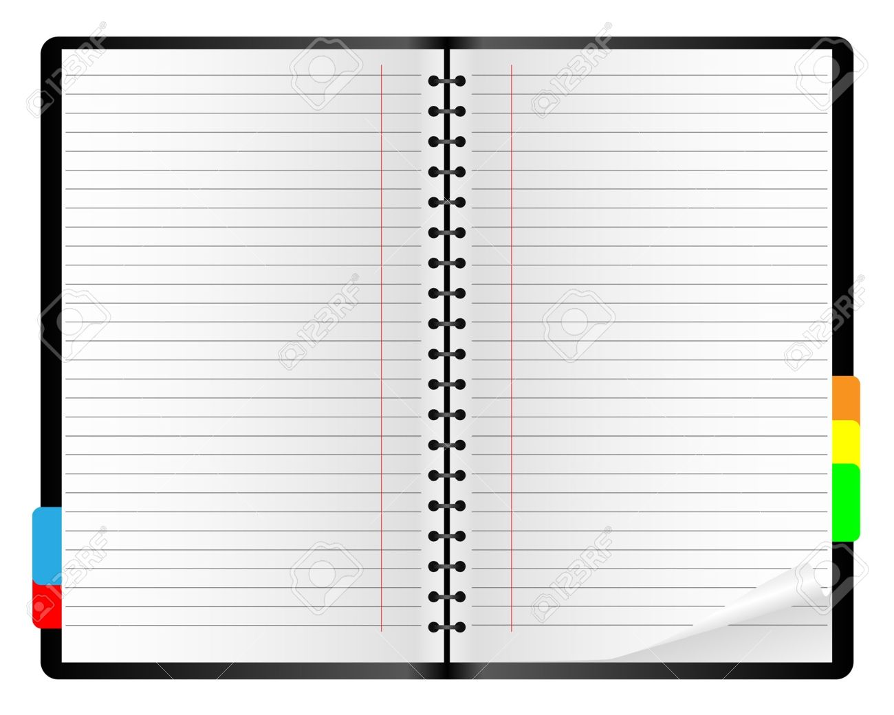 Paper notebook on a white background. Stock Vector - 10420366