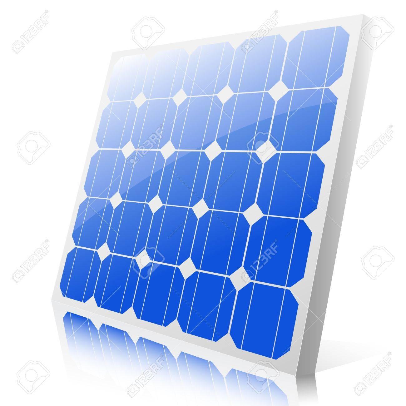 白い背景の上の太陽電池パネルのイラストのイラスト素材ベクタ