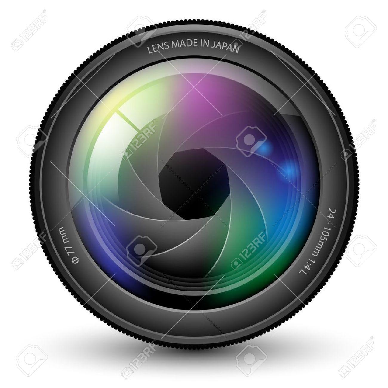 Illustration of camera lens isolated on a white background. Standard-Bild - 15476389
