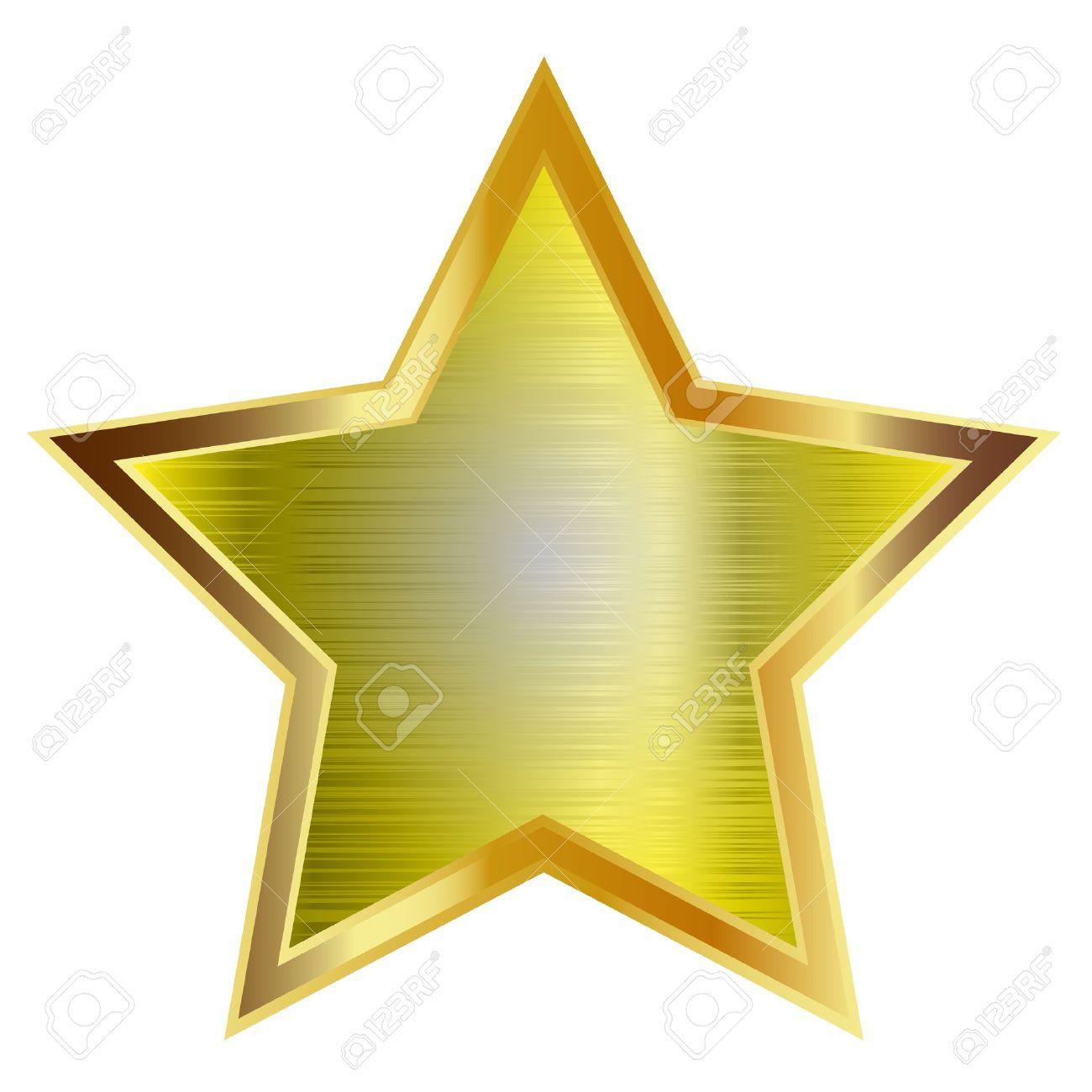 Gold star isolated on white background. Vector. Standard-Bild - 18245239