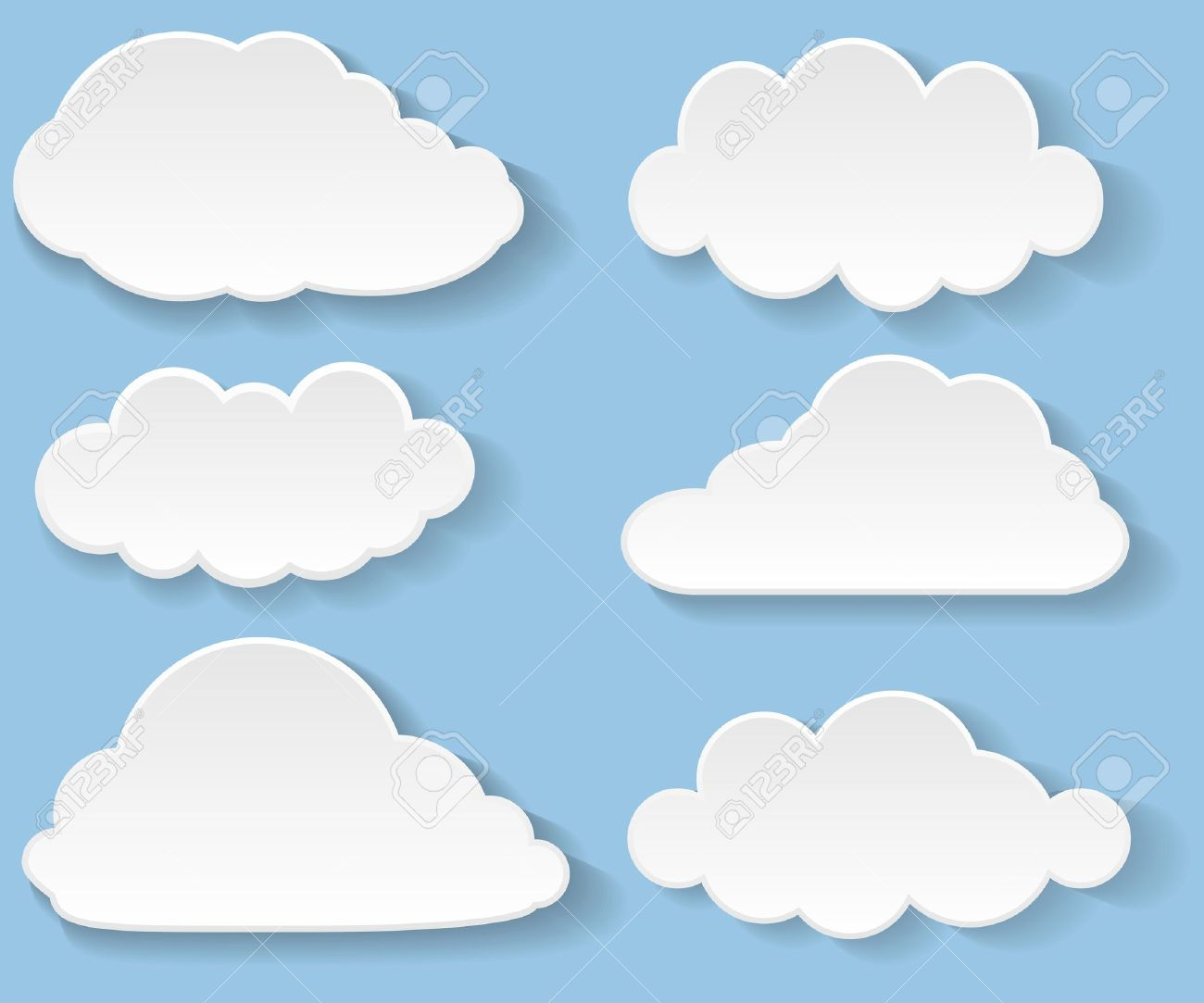 Illustration messages in the form of clouds Standard-Bild - 18816663