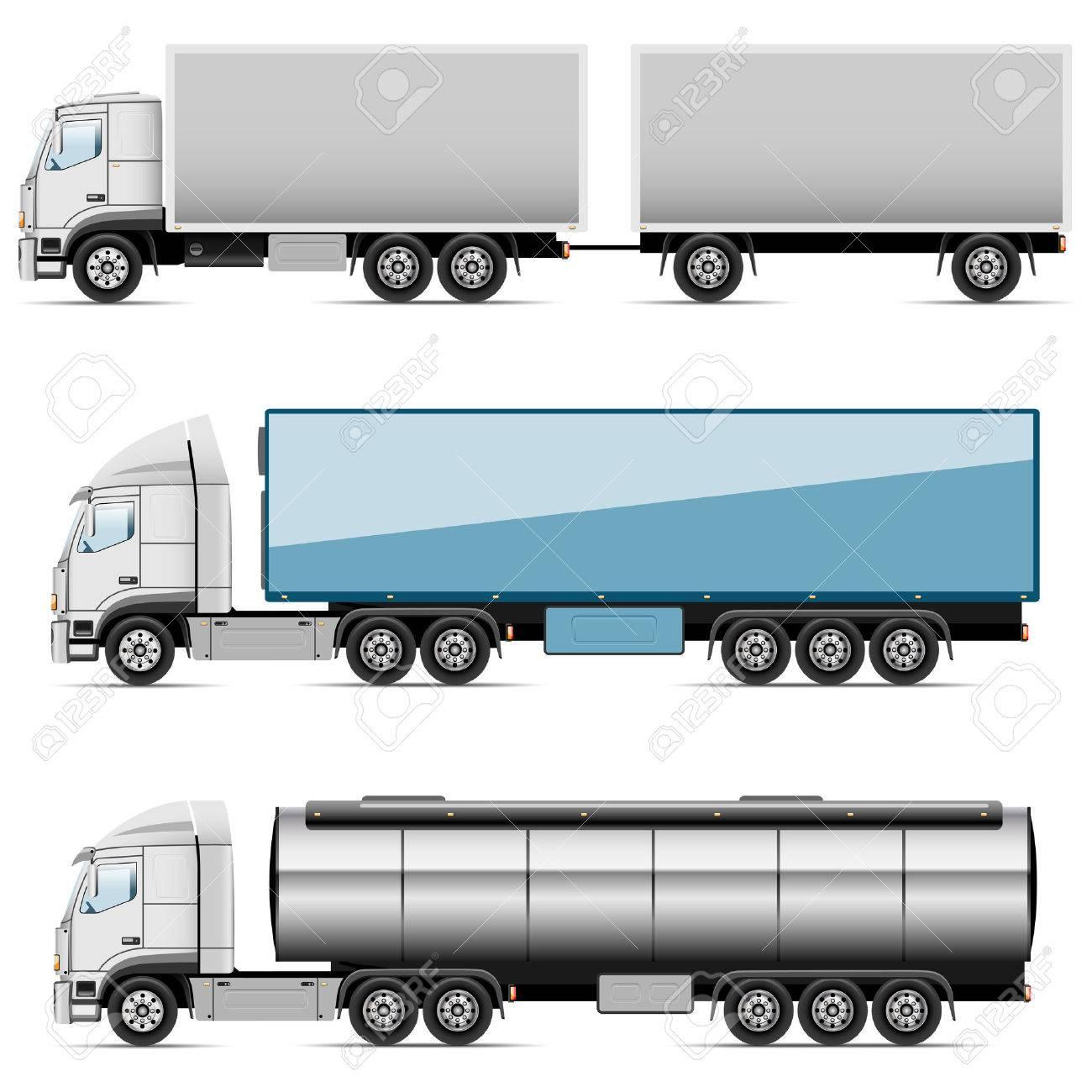 Illustration set of icons trucks  Vector Standard-Bild - 27487310
