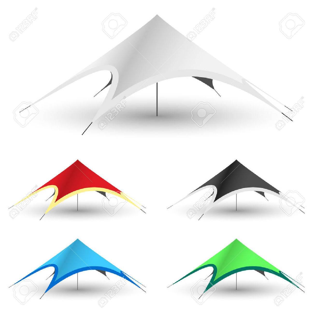 Star Tent on a white background Standard-Bild - 43643020