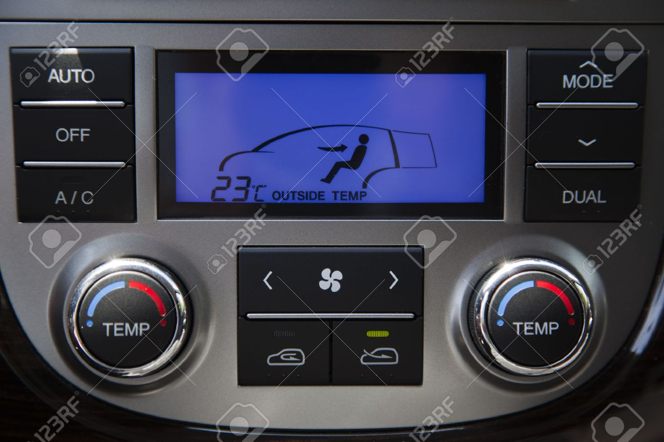 car air conditioner controls. air conditioning and heating in the car. control panel interior. stock photo - car conditioner controls