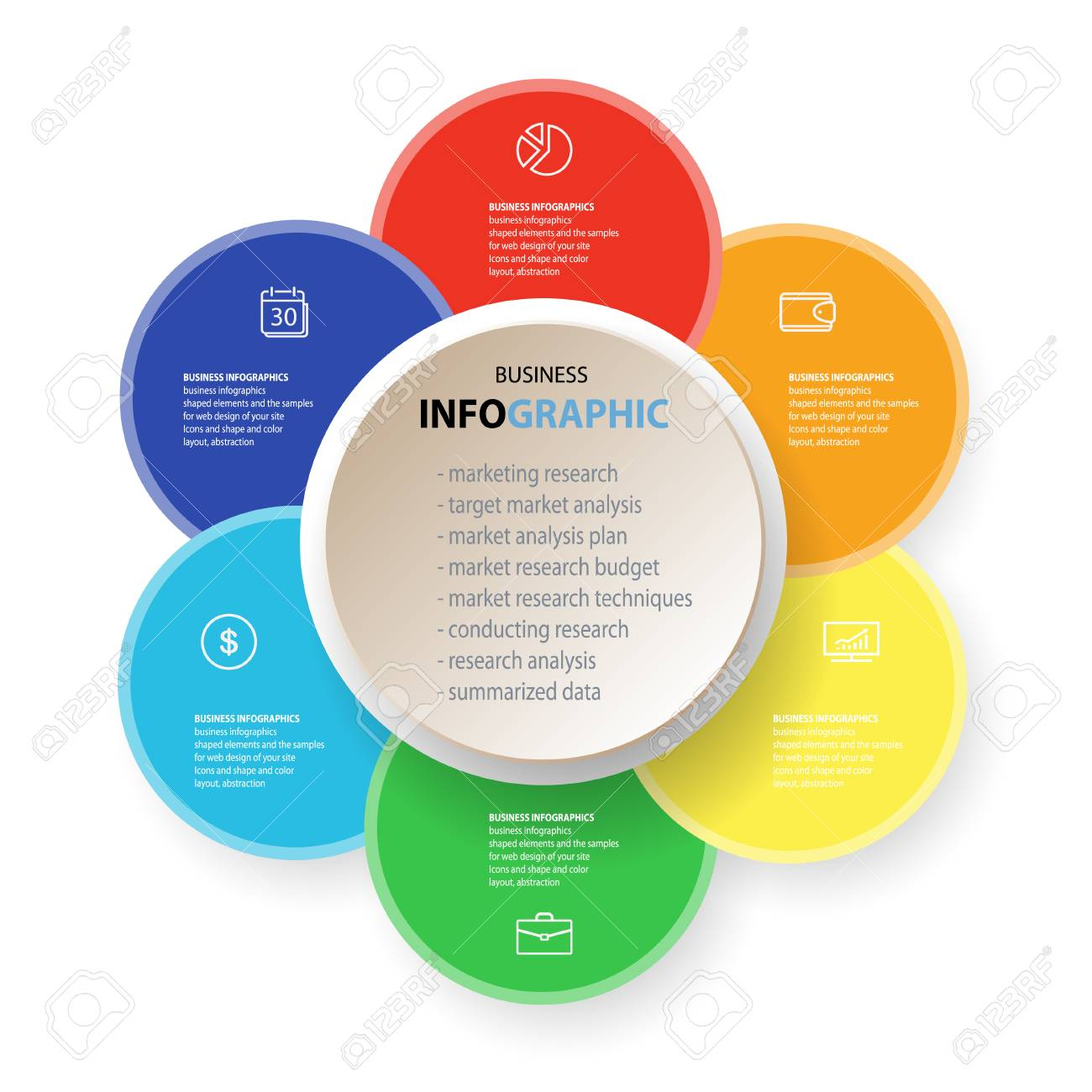 Infographics Marketing Icons For Layout Diagram Annual Report Royalty Free Cliparts Vectors And Stock Illustration Image 75199777