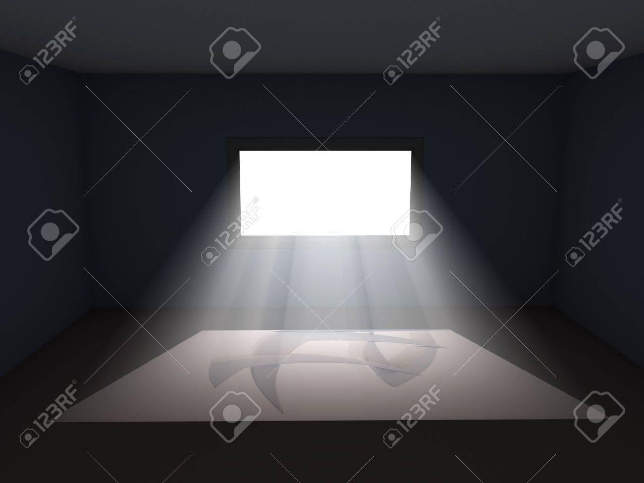 Dark room with light through window - Light Coming Through Window In Dark Room Illustration Please Check My Portfolio For Similar