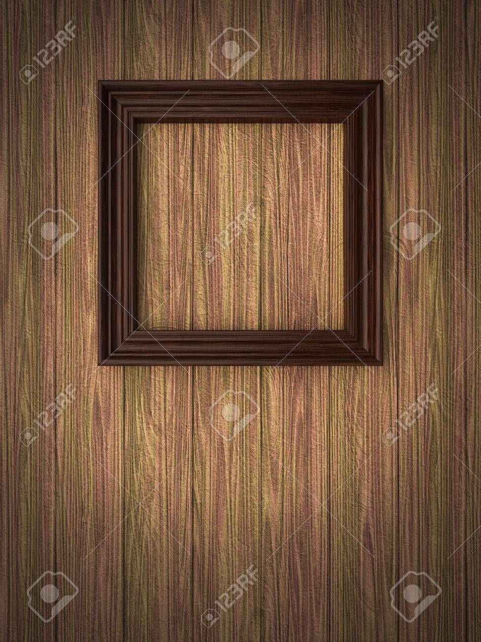 Wood Frame On Paneling Stock Photo, Picture And Royalty Free Image ...