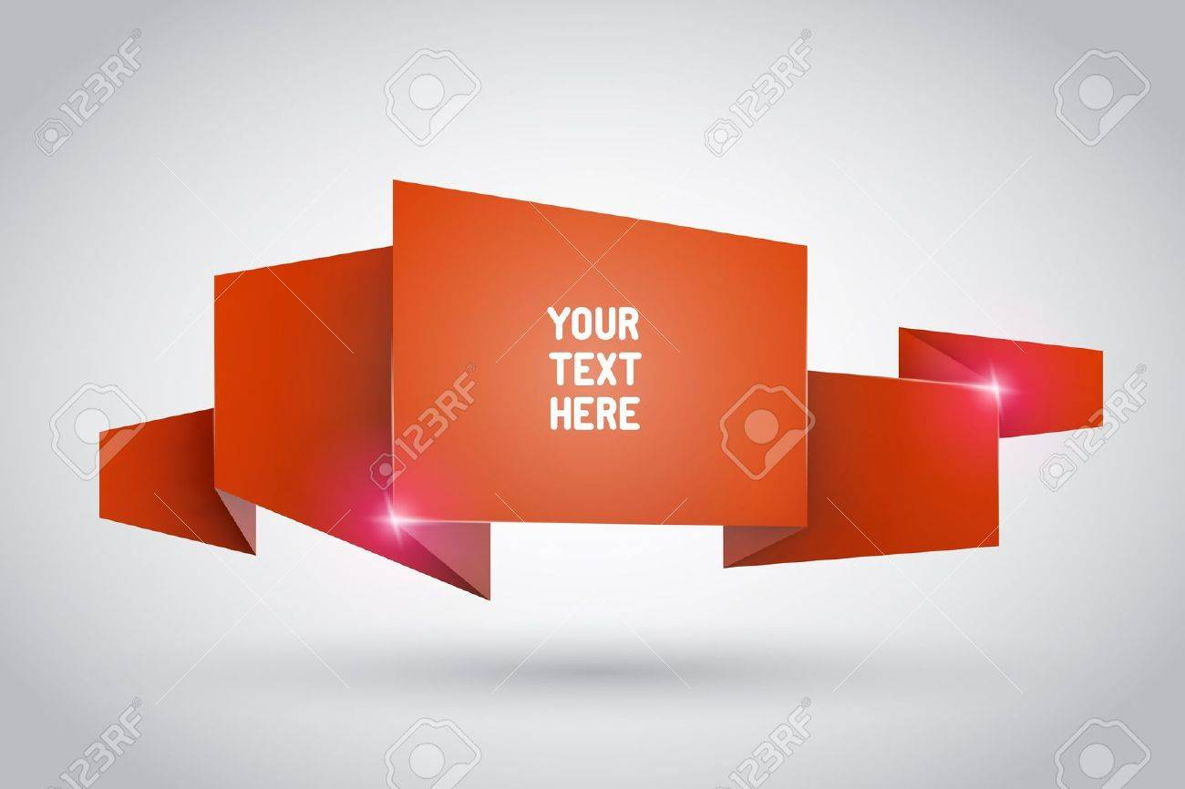 Origami ribbon with empty space for your text Stock Vector - 15328488
