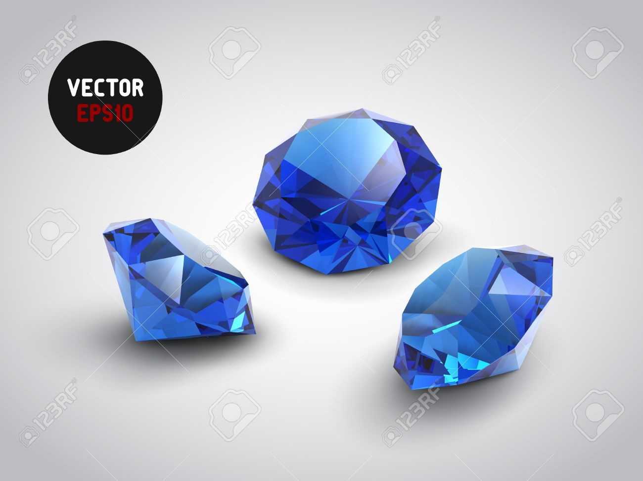 A beautiful sapphire gems objects Stock Vector - 15537516