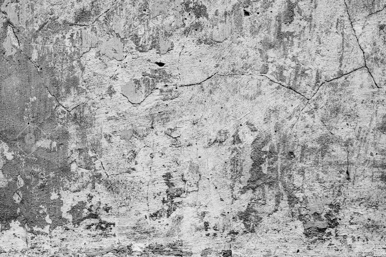 Texture, wall, concrete, it can be used as a background. Wall fragment with scratches and cracks - 152155815