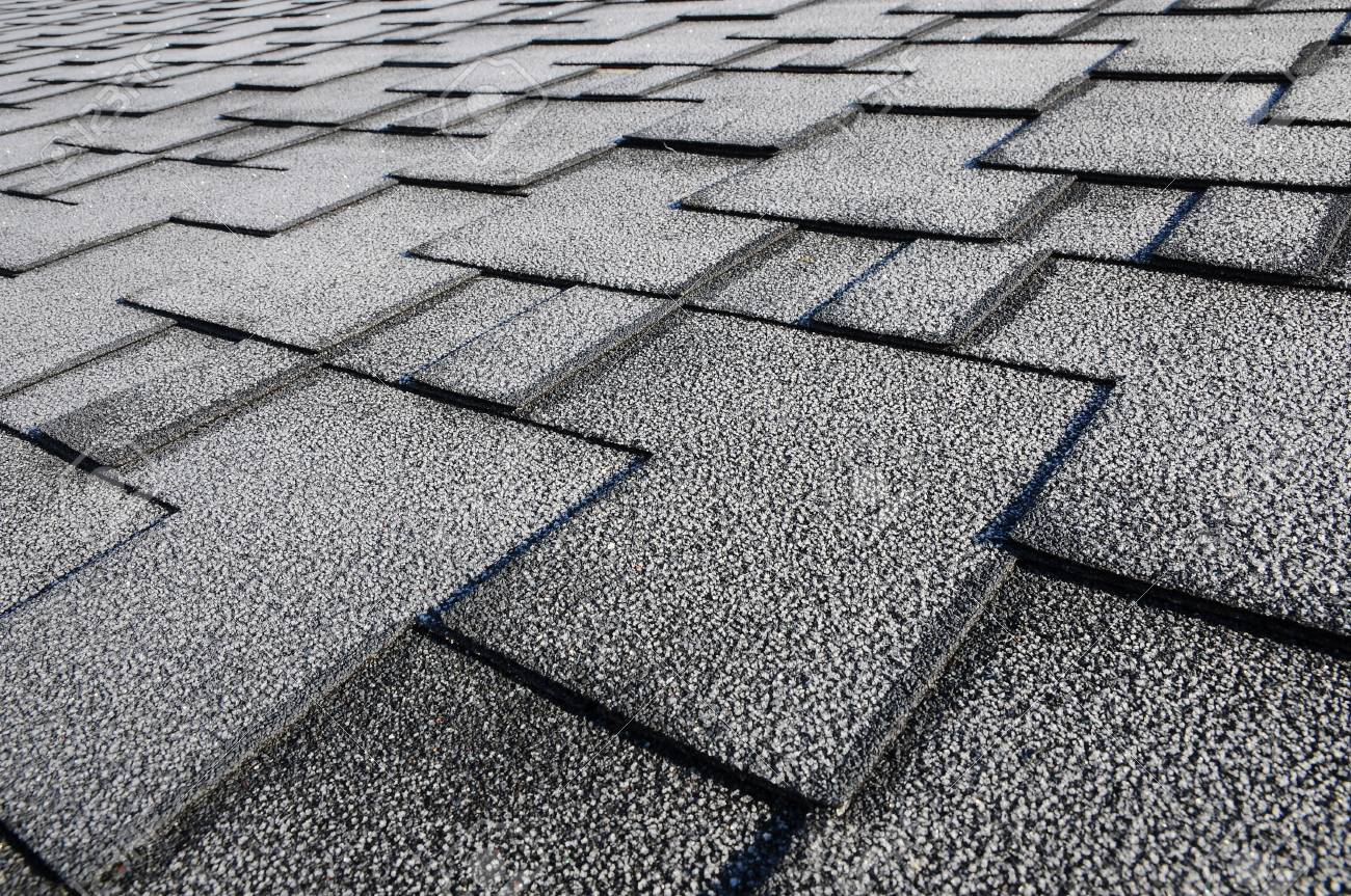 Close up view on Asphalt Roofing Shingles Background  Roof Shingles