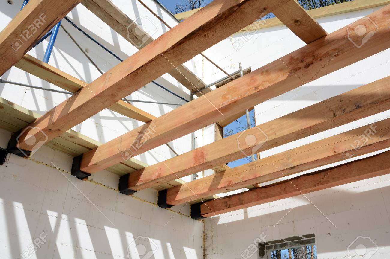 The Structure Of The Building Wooden Frame Building Wooden