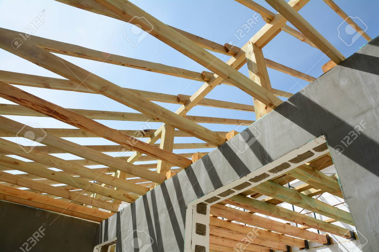 Wooden Frame Building Wooden Roof Construction Construction
