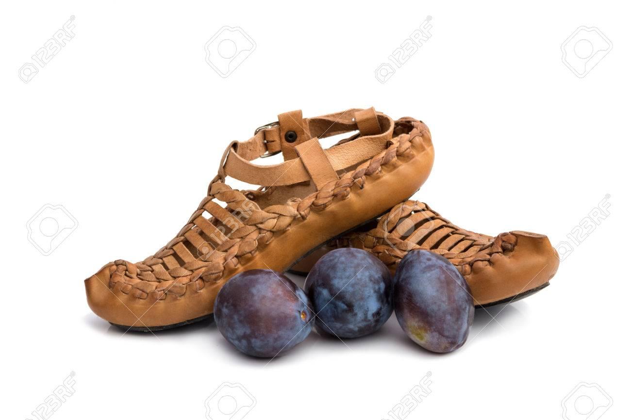 traditional Serbian footwear with plumbs, concept - Serbian brand Standard-Bild - 23796738