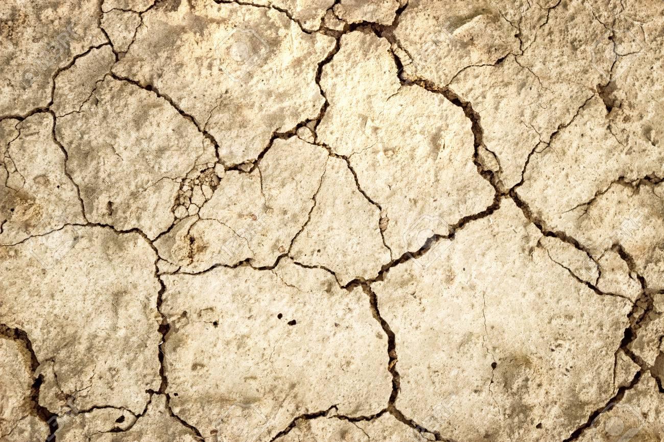 Dry land, background of cracked land surface Standard-Bild - 33271912