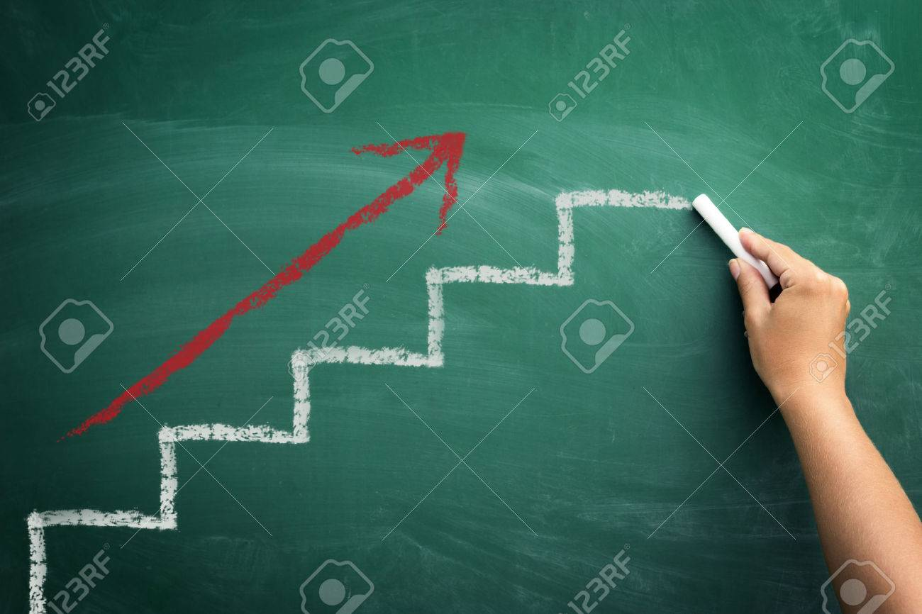 Step by step to the top, concept business progress - 33272095