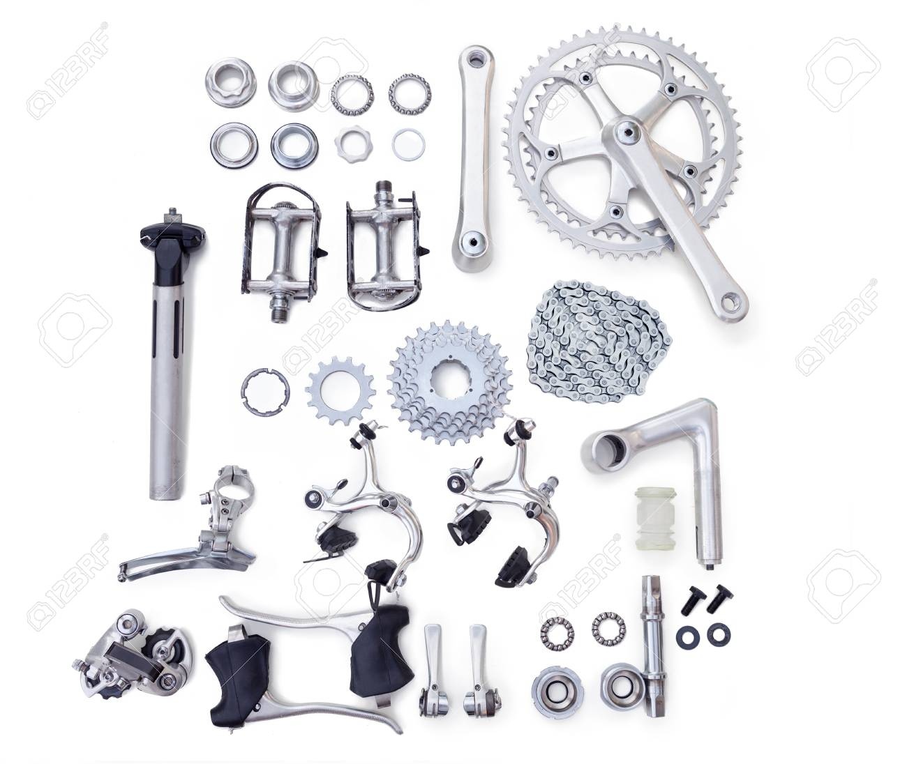 Bicycle Spare Parts For The Repair Of A Bicycle Stock Photo Picture