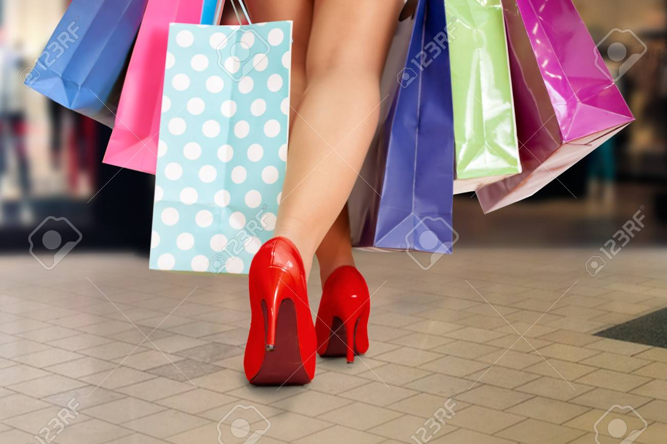 Shopping In High Heels