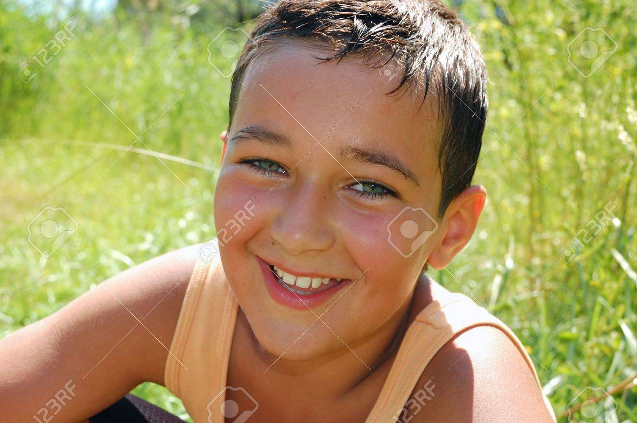 outdoor portrait of a teenage boy on a hot summer day Stock Photo - 6104791