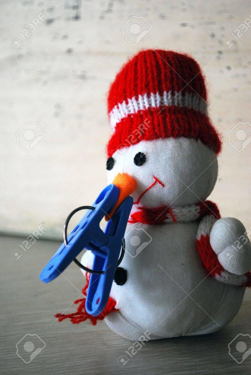 hopeful snowman Stock Photo - 5615729