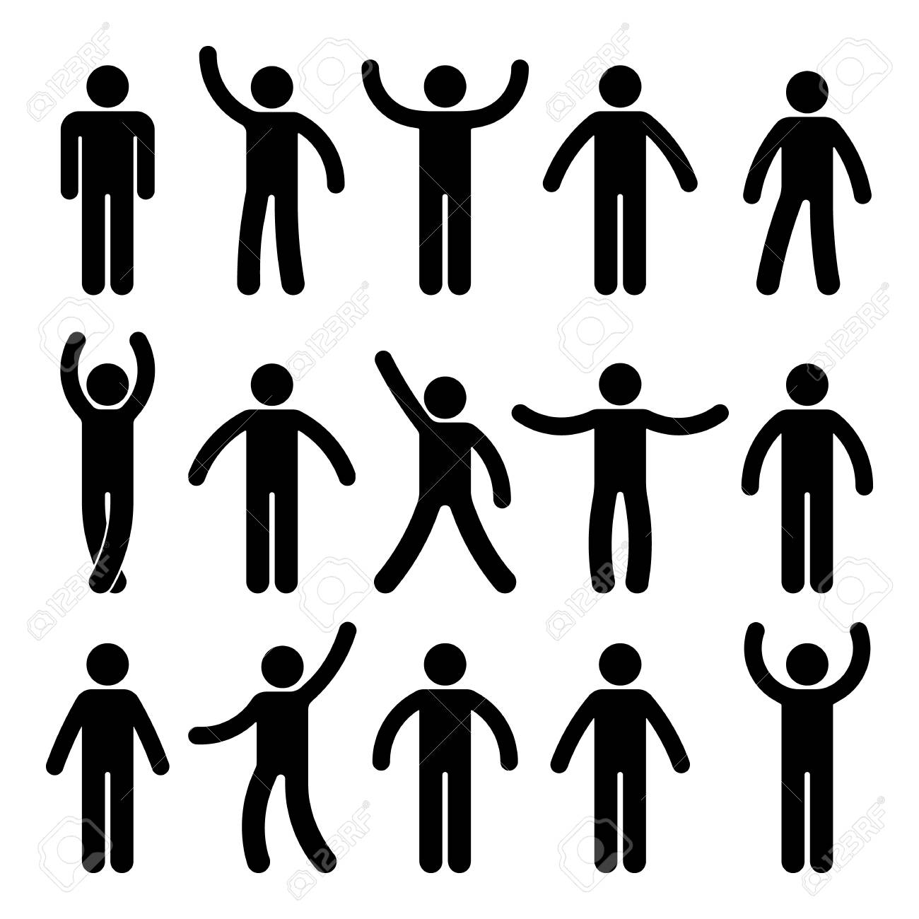 stick figure standing position. posing person icon posture symbol.. royalty  free cliparts, vectors, and stock illustration. image 88141732.  123rf