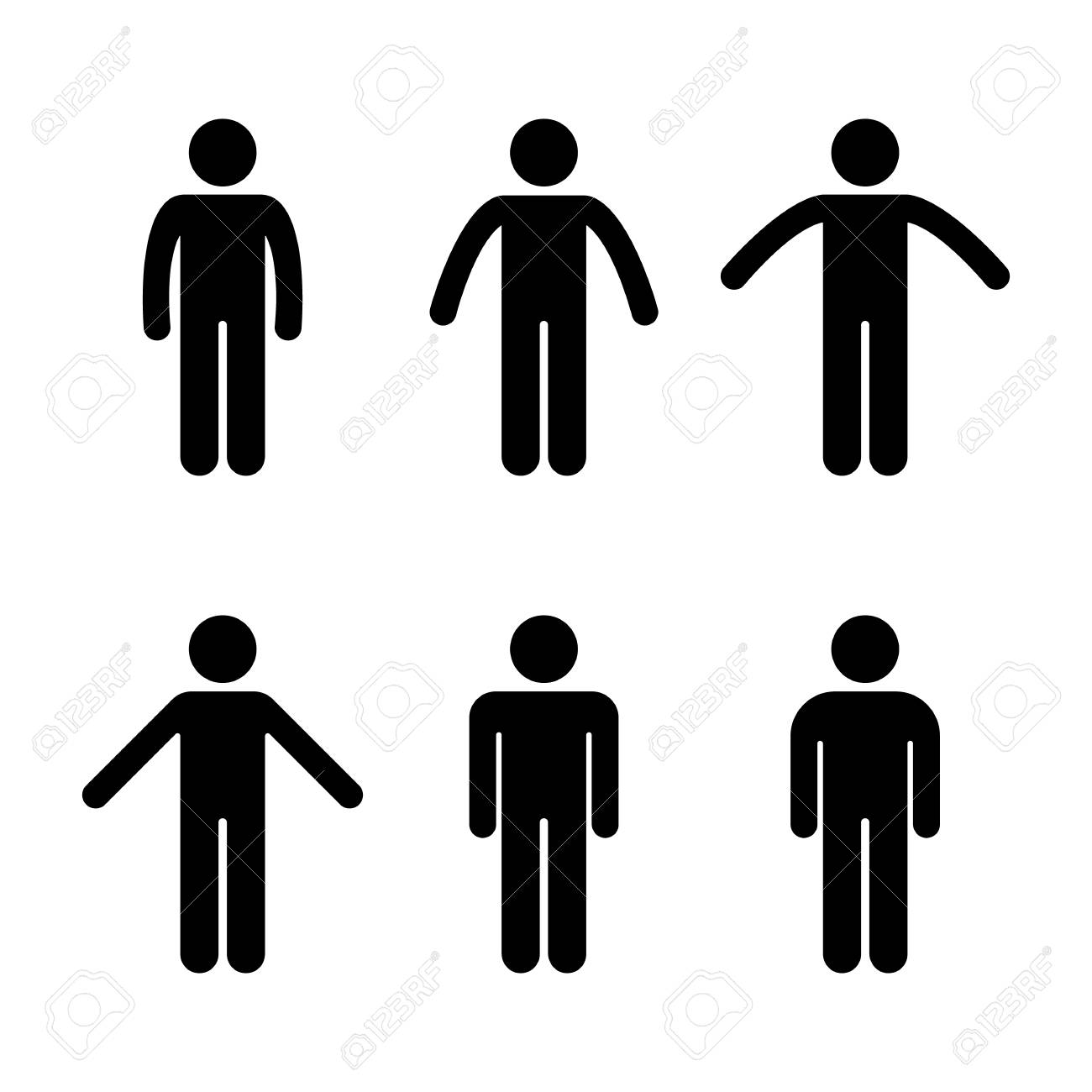 man people various standing position posture stick figure vector rh 123rf com stick figure vector free stick figure vector images