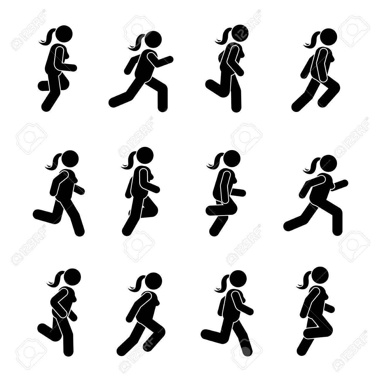 Stick Figure Running Clip Art - Green - Angry Stickman Cliparts Transparent  PNG