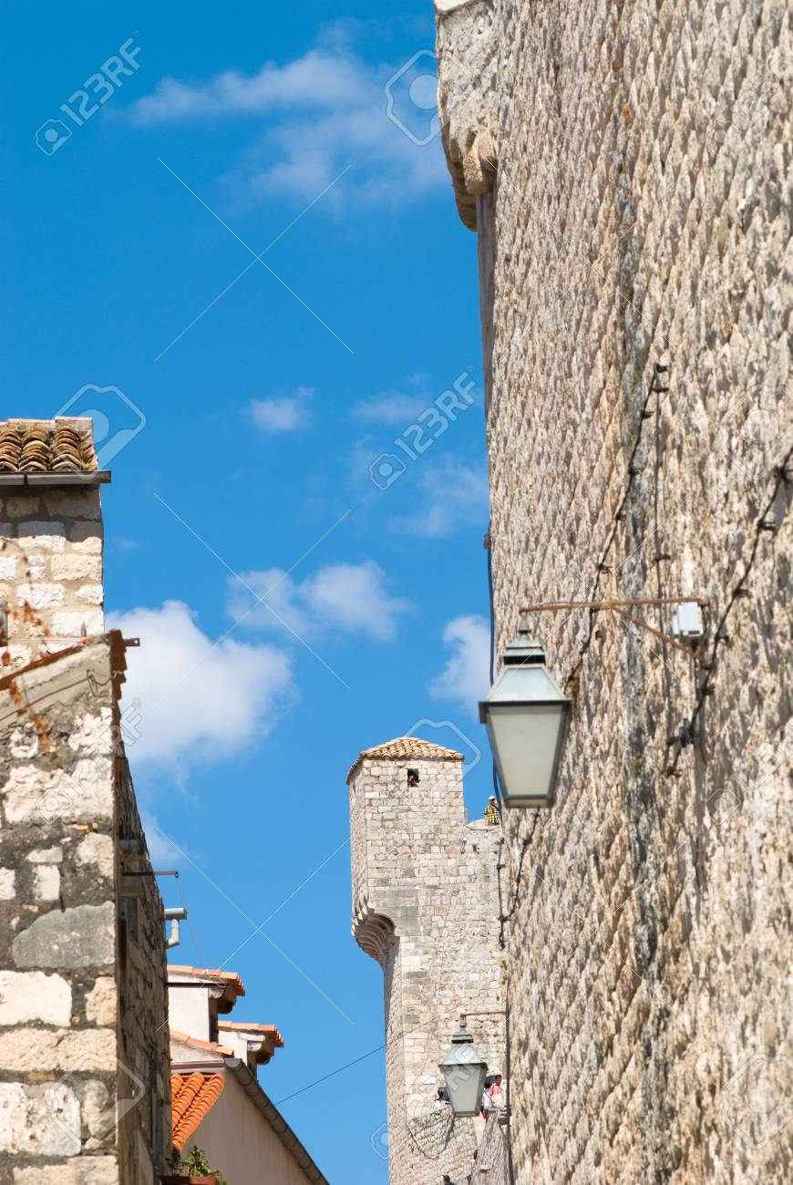 old castle on a background of blue sky Stock Photo - 3511477