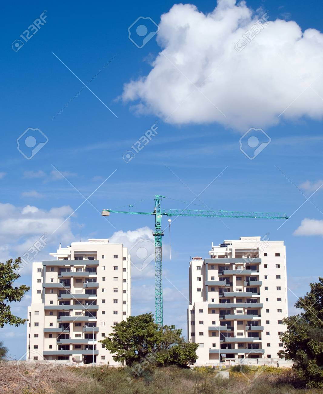 modern building on a background of blue sky Stock Photo - 3932410