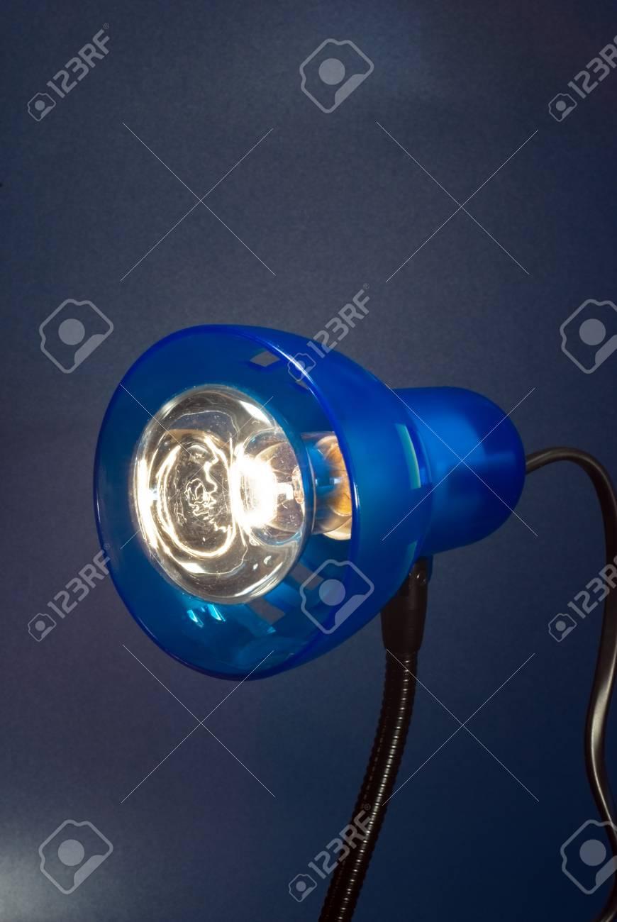 Immagini Stock Desktop Lampada Isolato Su Sfondo Scuro Image 4162066
