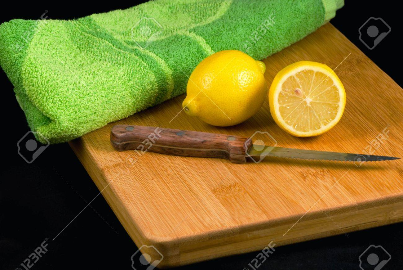 still life with lemons and knife Stock Photo - 6439423