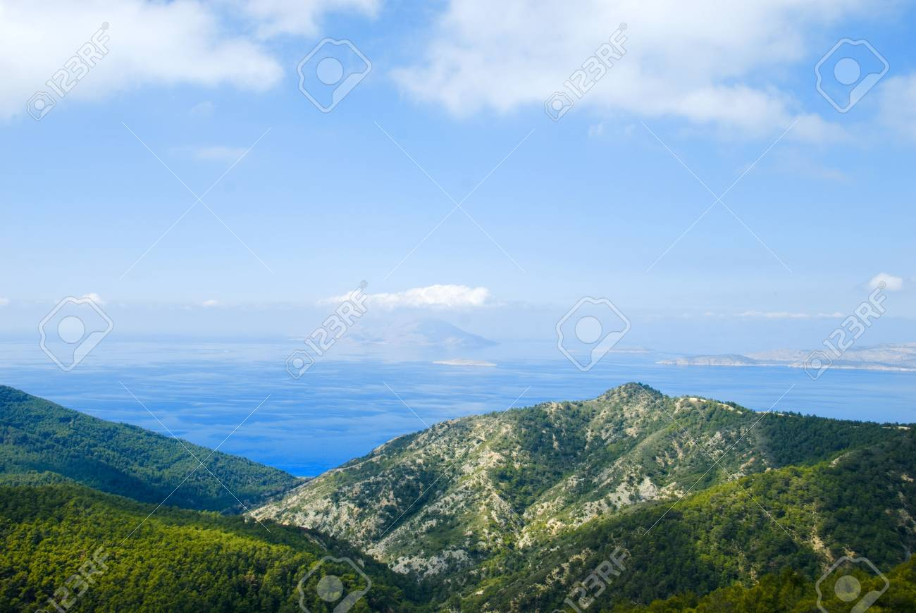 View of Aegean sea from island Rhodes, Greece Stock Photo - 6717238