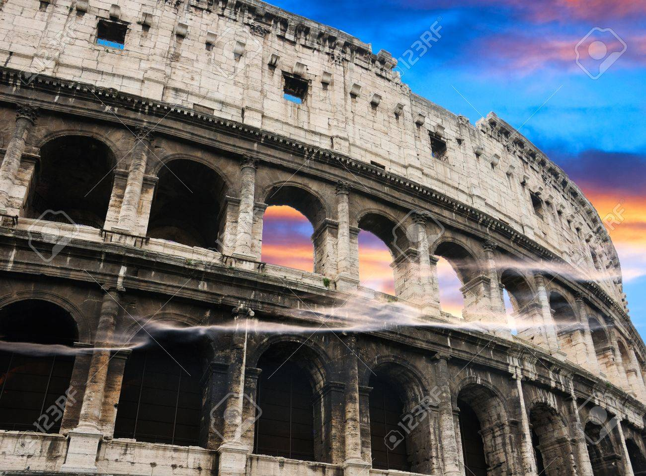 Colosseum aover dramatic sky background, Rome, Italy Stock Photo - 11975003