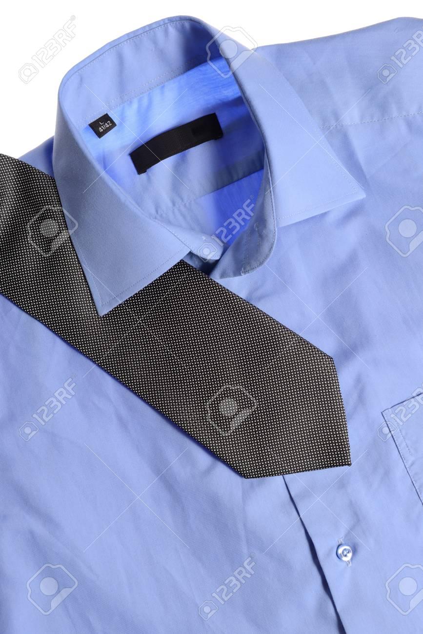 blue shirt isolated on white background Stock Photo - 15351063