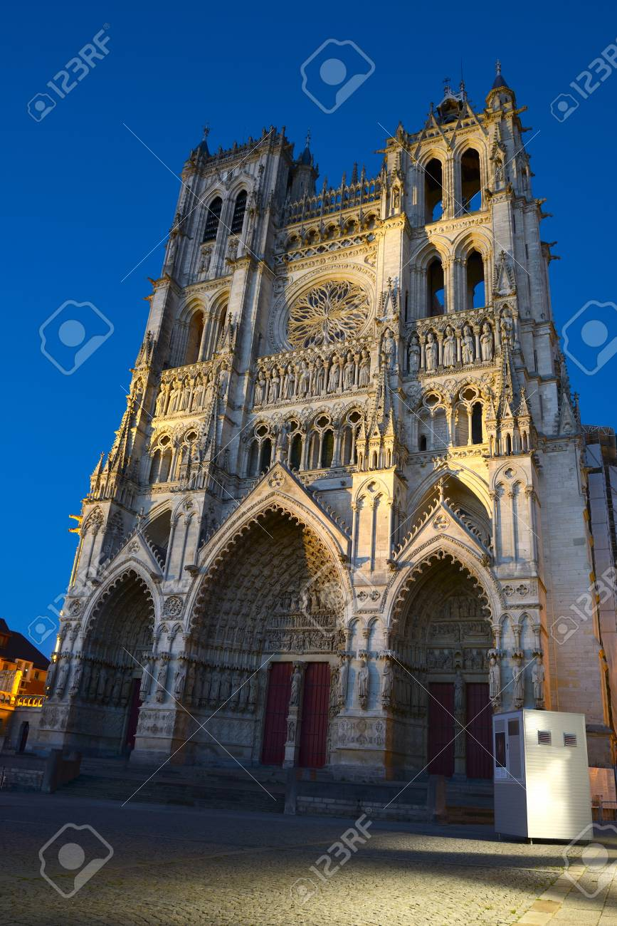 Notre Dame Of Amiens Cathedral. Vast, 13th century Gothic Edifice