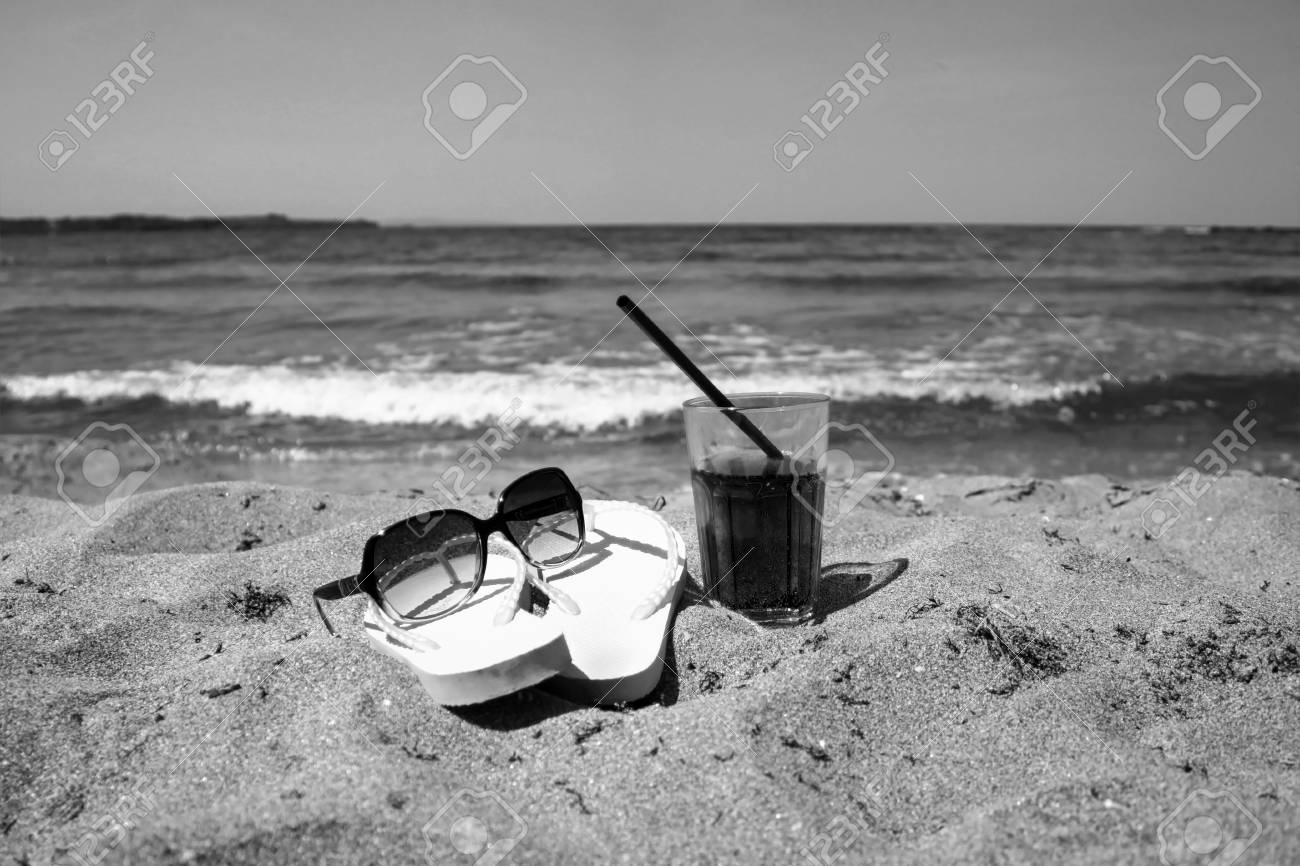 be0cc57ef Stock Photo - Summer composition with flip - flops
