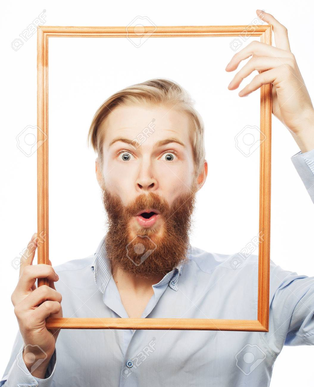 Framed Art For Your Wall Attractive Face Beard Goatee Gles Hair Man 10x13 Frame