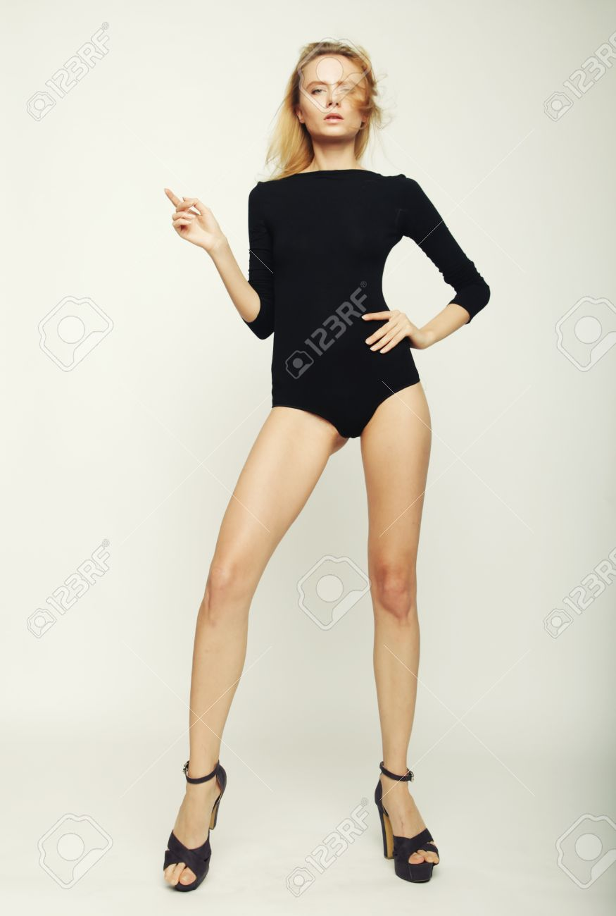 a125cb46ded beautiful fashion model woman with perfect slim body and long legs Stock  Photo - 40245060