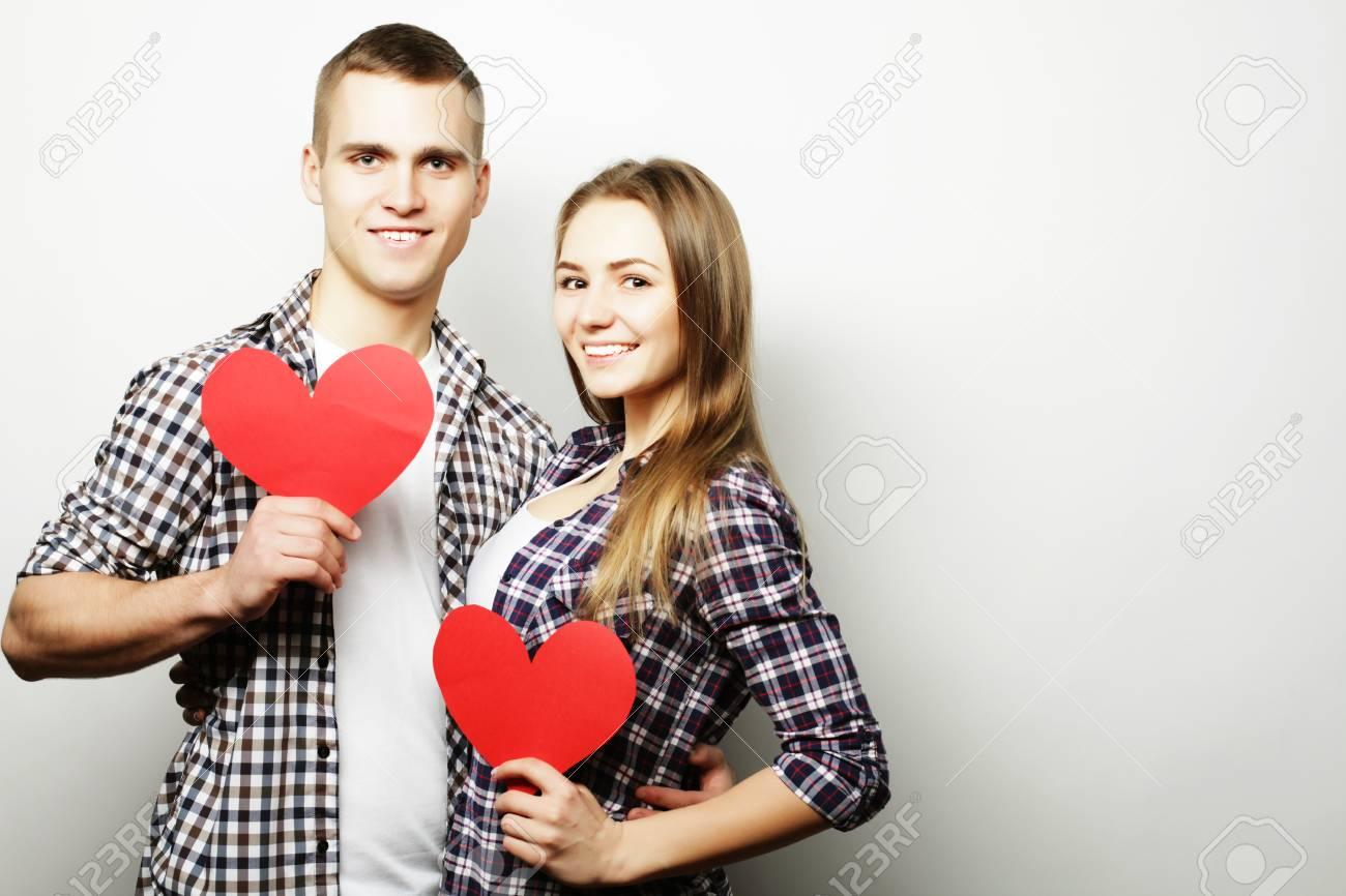 Concepto De Amor Familia Y Personas Feliz Pareja De Enamorados Con
