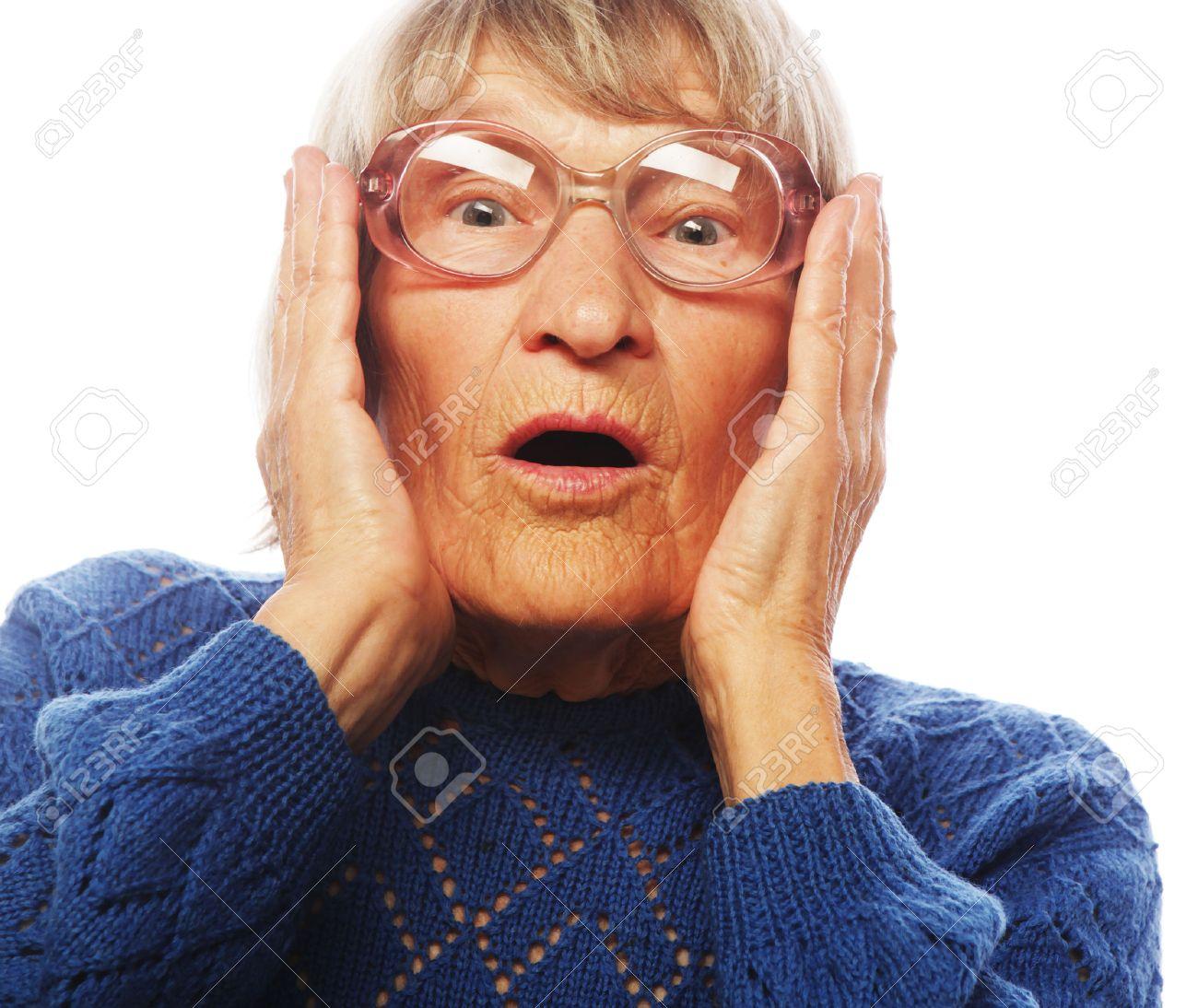 mature woman surprised stock photos. royalty free mature woman