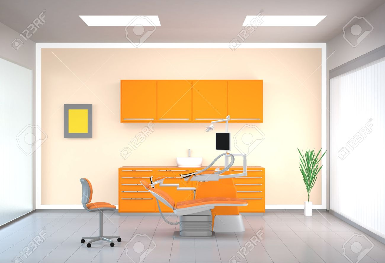 modern dental office interior stock photo, picture and royalty