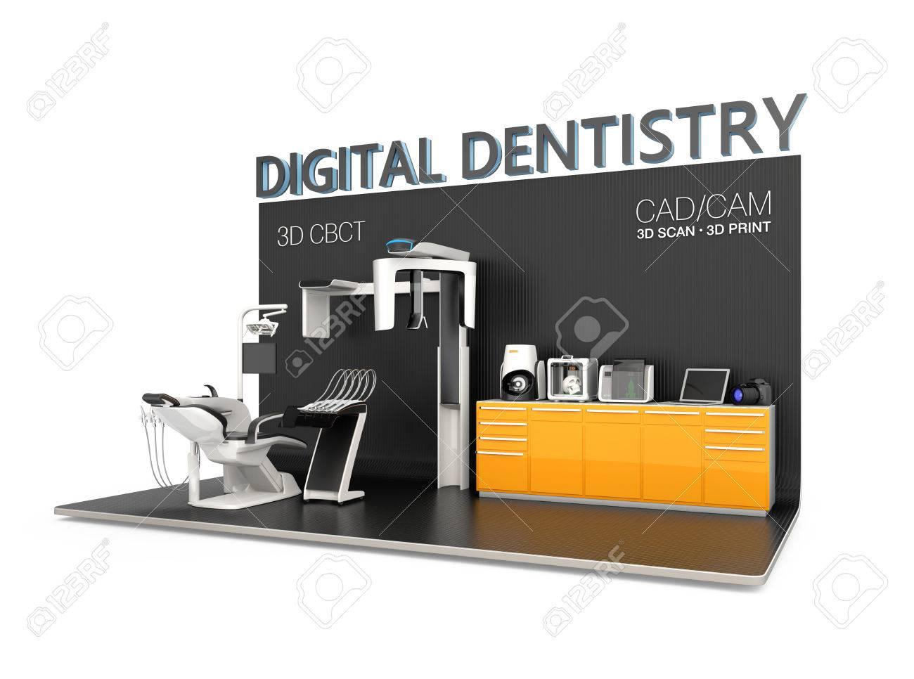 Digital dentistry concept  Input patient facial data by dental