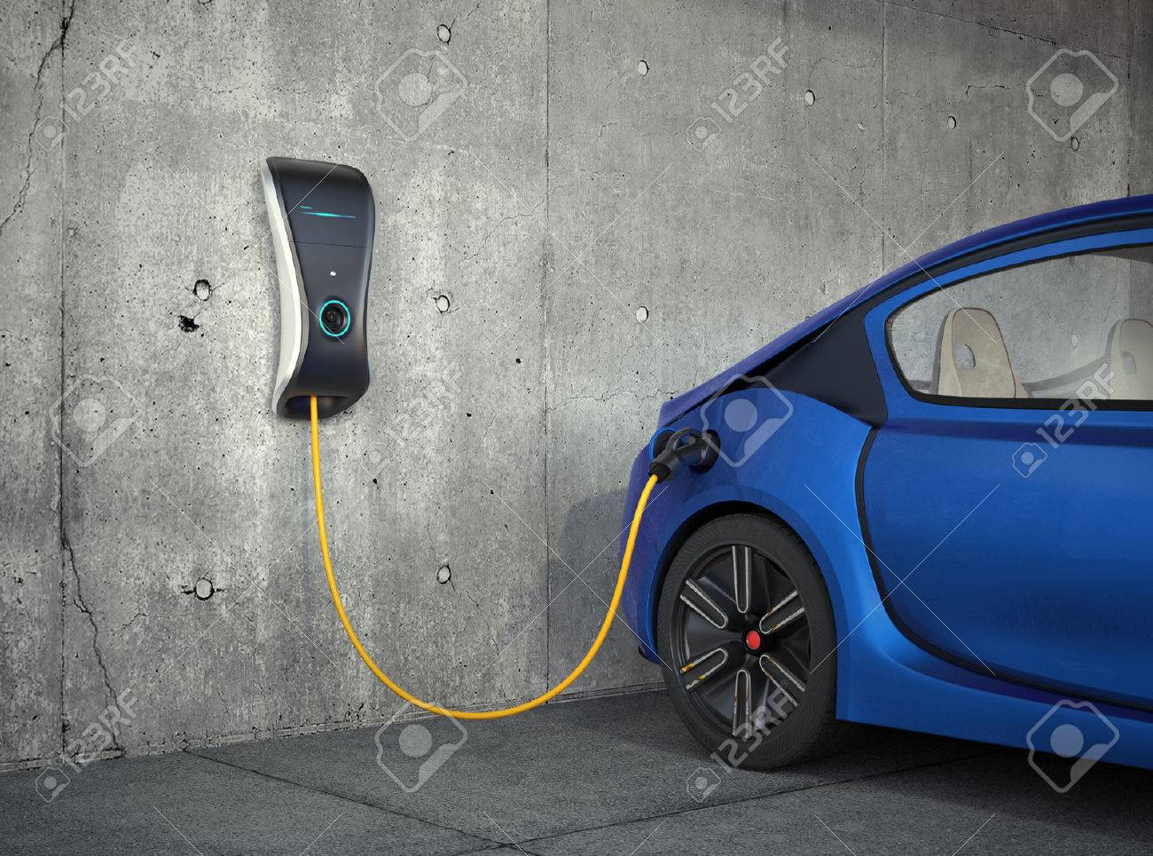 Electric vehicle charging station for home. - 53666161